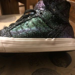 Supra Shoes - Purple and Teal sequin Supras size 7